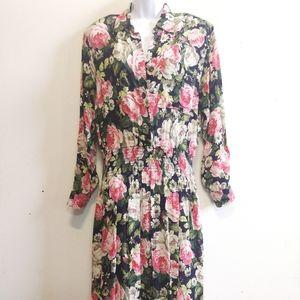 Vintage Jessica Howard Floral Midi Dress 10